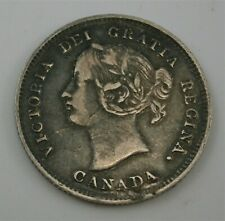 CANADA 1894 Five 5 Cent Silver Coin, nice detail.