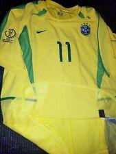 Ronaldinho Brazil 2002 WC PLAYER ISSUE Jersey Shirt Milan Barcelona XL