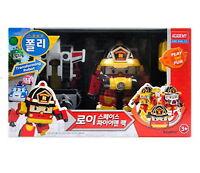 New Robocar Poli ROY Space Fireman Pack Transformer Robot Car Toy Action Figure