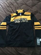BOSTON BRUINS  ZIP FRONT STRIPED TRACK JACKET WOMENS MED $65
