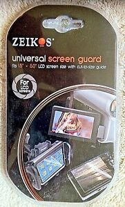 """Zeikos Universal Screen Guard 15"""" to 5"""" screen size w/cut-to-size guide New!"""