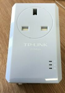 TP-LINK AV200 Powerline Adapter With AC Pass Through Socket TL-PA251