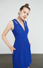 BCBG Maxazria Clayre Double Strap Pleated Dress. Size: 4 ~ Blue. NEW WITH TAG.