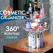 360 Degree Spin Rotating Transparent  Makeup Cosmetic Box Storage Organizer Case