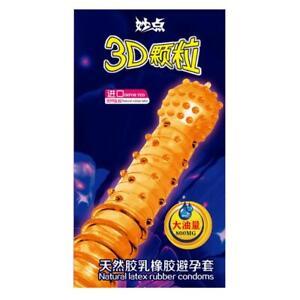 10 pcs Condoms Men 3D Big particle Peak Point G Dotted Condoms Con U2I5