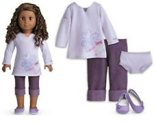 NEW American Girl Doll REAL ME MEET OUTFIT Purple Capris Tunic Shoes Panties