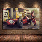 Car Poster Classic Racing F1 Race Wall Art Print Canvas Painting For Home Decor