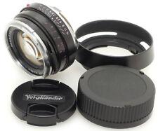Voigtlander Nokton Classic S.C 35mm F1.4 Lens. Hood For Leica M