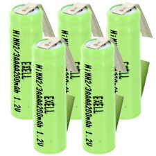 5x 2/3AAAA 1.2V Flat top Rechargeable Battery w/Tabs For Lights, Remote,Telecoms