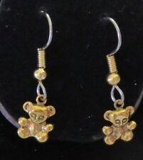 Tiny Teddy Bear Earrings 24 Karat Gold Plate Bears