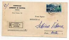 STORIA POSTALE 1954 REPUBBLICA TURISTICA L 50 SU DOCUMENTO TORINO 23/9 D/8645