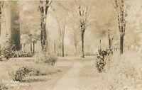 ALBION MI – City Park Real Photo Postcard rppc