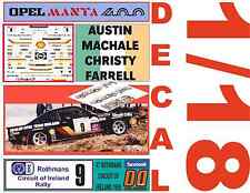 DECAL 1/18 OPEL MANTA 400 AUSTIN MACHALE CIRCUIT OF IRELAND 1986 3rd (02)