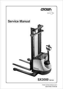 Crown SX3000 Series Forklift Service Manual (B186)