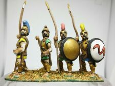 4cms miniatures ancient Greek hoplites painted sold as seen Wargames & Role-Play