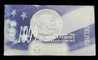 1999 U.S. MINT SUSAN B. ANTHONY SOUVENIR DOLLAR SETS 2 COIN Set BU UNC & MEDALS