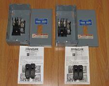 2x SQUARE D HOMELINE HOM2-4L70 70 AMP MAX LOAD CENTER HOM2-4L70