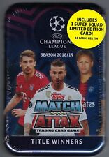 2018-19 Topps UEFA Champions League Soccer Match Attax 60ct TITLE WINNERS TIN FS