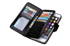 Luxury 9 Card slot Leather Wallet Case Flip Cover For Apple phone SE 6 6s 6 Plus