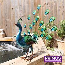 Primus vibrante Ventilador De Metal Cola de Pavo Real Decoración De Jardín De Al Aire Libre