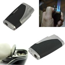 Windproof Refillable Butane Cigarette Cigar Lighter Twin Flame Jet Flame Gift