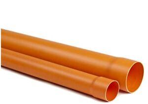 TUBO PVC SUPER ARANCIO ROSSO diam. mm 63 (60) lunghezza metri 2,00 scarico fogna