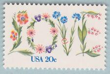 LOVE STAMP VINE FLOWERS 1982 UNUSED United States POSTAGE 20 Cent BEAUTIFUL 1