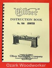 OLIVER 166 Wood Planer & Jointer Operator and Parts Manual 0973