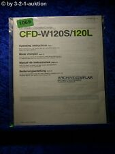 Sony Bedienungsanleitung CFD W120S / 120L (#1069)