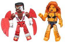 Marvel Minimates Wave 69 Tigra & Falcon 2 Pack Diamond