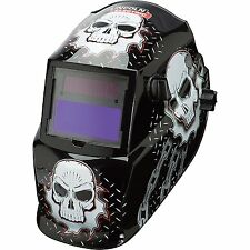 Lincoln Electric Variable-Shade Auto-Darkening Welding Helmet - Skull Design,