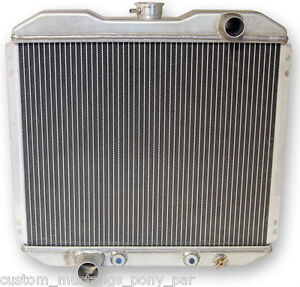 "Ford Mustang Radiator Alloy 55mm 2 Core V8 1967 1968 1969 1970 20"" 5.0 302 351c"