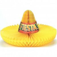 CENTREPIECE HONEYCOMB SOMBRERO HANGING DECORATION PARTY SUPPLIES
