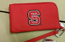 North Carolina State Wolfpack ID Wallet Wristlet Cell Phone Case Charm 14 Purse