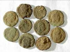 New Listing10 Ancient Roman Coins Ae3/4 - Uncleaned and As Found! - Unique Lot X08803