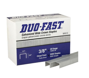 "5012-C Duo-Fast Staples 1/2"" CROWN - 3/8"" LEG LENGTH CHISEL POINT 5000/Box"