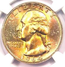 1964 Washington Quarter 25C Rainbow - NGC MS67+ CAC Plus Grade - $4,650 Value!