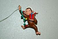 """HALLMARK 2012 CURIOUS GEORGE THE LIGHT OF THE PARTY 3"""" CHRISTMAS ORNAMENT USED"""