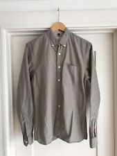 Apolis Global Citizen Men's Lightweight Oxford Button Down Gray Shirt Small 38""