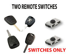 2 PEUGEOT 307 206 PARTNER 107 406  KEY FOB REMOTE NEW REPAIR SWITCHES