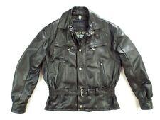 HEIN GERICKE German Leather Motorcycle Jacket M Black Vintage Biker Rider
