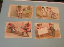 European Imperial Soldiers 4 Victorian Trade Card Lot Great Military Uniforms