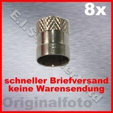 8x Ventilkappen Metall lang Dichtung ventil kappe tire valve cap metal long