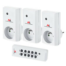 Maclean Energy MCE153 Set van Netwerkcontactdoos op afstand met penaarde EU