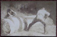 J Pratt Art Dealers Ltd Nottingham - Millet - Wood Sawyers Photographic Postcard