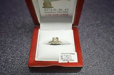 "VINTAGE 14 KT WHITE GOLD .27 CTS ""H VS1"" DIAMOND ENGAGEMENT RING SZ 6.25"
