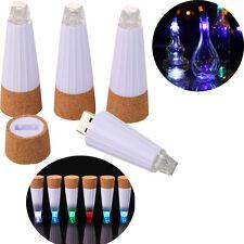FLASCHENLICHT BOTTLE CAP LIGHT LAMP USB LED RECHARGABLE KORK FLASCHENBELEUCHTUNG