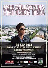 NOEL GALLAGHER'S HIGH FLYING BIRDS 2012 HONG KONG CONCERT TOUR POSTER-Oasis,Rock