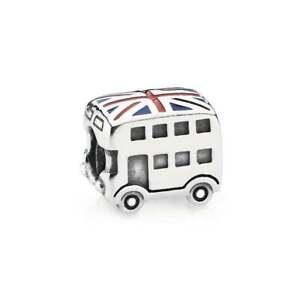 Authentic PANDORA London Double Decker Bus Silver Charm 791049