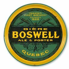 1930s PORCELAIN ENAMEL BOSWELL BREWERY & COMPANY ADVERTISING SERVING BEER TRAY